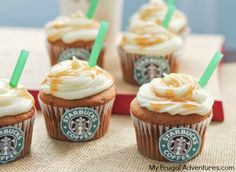 Salted Caramel Starbucks Cupcakes- so fun and very easy to make! Use any flavor of cupcake you prefer. (1 of 1)