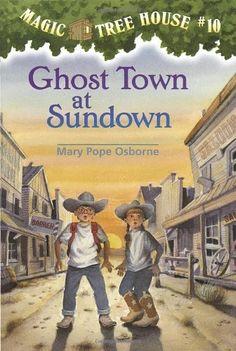 Ghost Town at Sundown (Magic Tree House) by Mary Pope Osborne, http://www.amazon.com/dp/0679883398/ref=cm_sw_r_pi_dp_1bcgqb0MWE4NQ