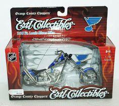 ST LOUIS BLUES HOCKEY DIECAST MOTORCYCLE ERTL NHL 1:18 SCALE OCC CHOPPER NEW #ERTLCollectibles #StLouisBluesHockey #OrangeCountyChoppersOCC