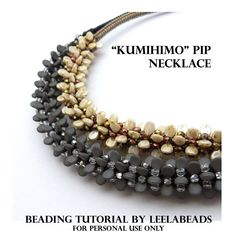 Kumihimo Pip Necklace PDF beading pattern Instant by LeelaBeads