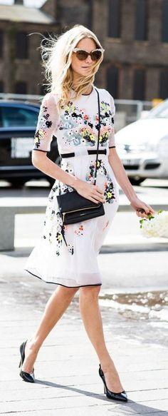 #street #style LFW Poppy Delevigne floral dress @wachabuy