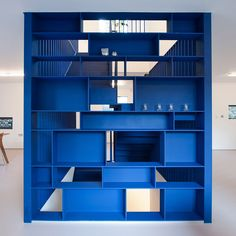 Six interiors with pops of Pantone's 2020 colour of the year Classic Blue – Office İnterior İdeas Built In Shelves, Built In Storage, White Bookshelves, Bookcases, Blue Shelves, Painting Shutters, Pantone 2020, Paris Design, London House