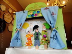 Creative Craft Stick Puppet Theater--with its own creative story.  :)