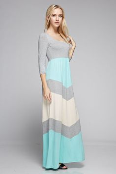 Head over heels for this cute little maxi! Our Why I Love You maxi dress features a large chevron print on the front with a beautiful color combination of pink, navy and white. A must have for spring!