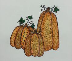 LIVE | Pumpkin Zentangle Watercolor | Painting Tutorial