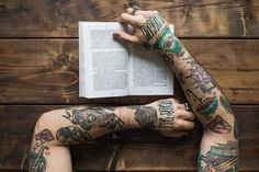 Colorful sleeve tattoo for men.. Click on the pic for more #tattoos 8531 Santa Monica Blvd West Hollywood, CA 90069 - Call or stop by anytime. UPDATE: Now ANYONE can call our Drug and Drama Helpline Free at 310-855-9168.