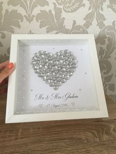Mother's Day frame Mother's Day gift by MemoriesofJoyCrafts Handmade Wedding Gifts, Diy Baby Gifts, Box Frame Art, Box Frames, Long Distance Relationship Gifts, Cute Frames, Crafts To Make And Sell, Wedding Frames, Button Crafts