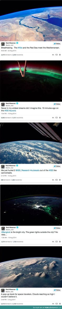 everytime I need a reminder of how BIG and AWESOME God is! as seen from space