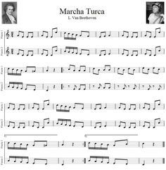 marcha turca de beethoven partitura - Buscar con Google: Piano Lessons, Guitar Lessons, Guitar Chords Beginner, Violin Sheet Music, Music Score, Music Heals, Music Classroom, Music Covers, Music Theory