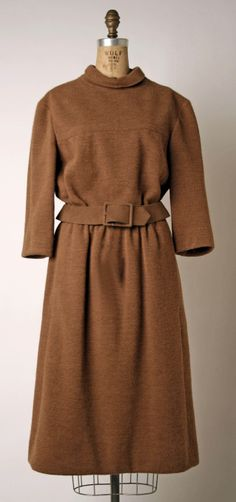 Dress, Marc Bohan (French, born 1926) for House of Dior (French, founded 1947): fall/winter 1964-1965, French, wool.
