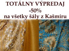 Jedninečný výpredaj úžasných Kašmírových šálov a kozmetiky z Mŕtveho mora na stránkach firmy Orient House. Neváhajte a nájdite si svoj šál alebo kozmetiku.