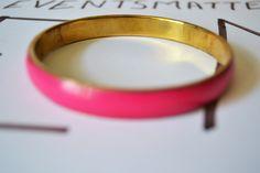 Metal Bangle Pink Vintage Jewelry Unique Bracelet Gift #BBR 4 by eventsmatters on Etsy