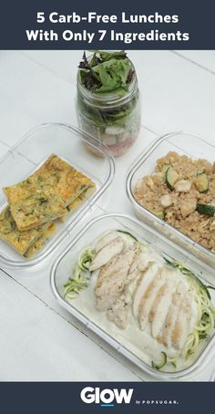 Make your meal prep a little easier this week with 5 Carb-Free Lunches With Only 7 Ingredients.