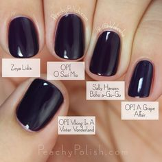 OPI O Suzi Mio Comparison Fall 2015 Venice Collection Peachy Polish Cute Nails, Pretty Nails, Opi Nails, Manicures, Nail Nail, Colorful Nail Designs, Nail Envy, Nail Polish Colors, Dark Nail Polish