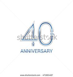 40th anniversary logo design uses three lines which form the numbers.  years…