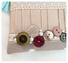 Vintage Button Coin Purse by nataliefarrell on Etsy