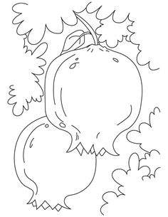 pomegranate fruit picture coloring pages 2 - games the sun Jewish Crafts, Jewish Art, Leaf Coloring Page, Coloring Pages, Pomegranate Art, Feast Of Tabernacles, Fruit Picture, Bible Crafts, Art Lessons