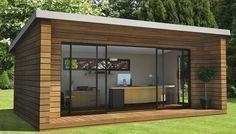 Abri de jardin - pièces en plus - bardage bois - grande baie vitrée - studio - atelier