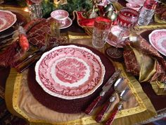 Nancy's Daily Dish: Christmas Tablescape with Masons Vista