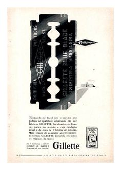 Anúncios do passado / Old ads Barber Logo, Barber Shop Decor, Barbershop Design, Safety Razor, Wet Shaving, Old Signs, Vintage Tools, Salon Design, Old Ads