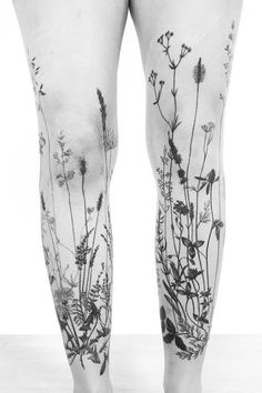 Grass tattoo sleeves on both legs for women (from the front) – The post Grass tattoo sleeves on both legs for women (from the front appeared first on Garden ideas - Tattoos And Body Art Finger Tattoos, Cute Tattoos, Beautiful Tattoos, Body Art Tattoos, Tatoos, Nature Tattoos, Earthy Tattoos, Forest Tattoos, Diy Tattoo