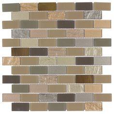 Peel & Stick Glass Mosaic Tile Venice | Mineral Tiles