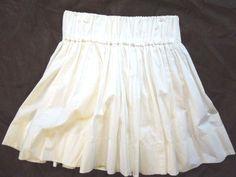 Women S/M #Delias  #White #Cotton #Skater #Skirt #Short #Mini #Full #CuteSkirt