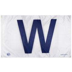 """Chicago Cubs 3' x5' """"W"""" Win Flag by Rico #Chicago #ChicagoCubs #WFlag #FlyTheW #Cubbies #Cubs"""