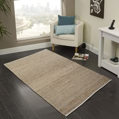 Cozy Home and Bath Hand-Woven Natural Area Rug Rug Size: