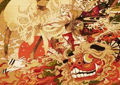 Japanese Prints, Japanese Art, Antique Illustration, Illustration Art, Painting Inspiration, Art Inspo, Character Art, Character Design, Pokemon