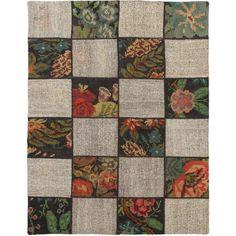 eCarpetGallery Moldovia Duo Patch Kilim /Brown Handmade Rug