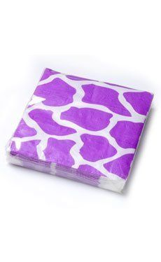 Beverage Napkins Purple Giraffe Slant Animal Bright (50) by Slant Collections. $9.73. (50) Beverage napkins. These light hearted 2-ply paper napkins feature a purple giraffe print against a white background. Paper napkins measure 5 x 5 inches folded. 50 napkins per package.