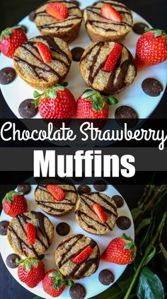 Chocolate Strawberry Muffins healthy muffins