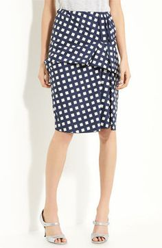 cute skirt... probably costs way too much. MARC JACOBS Gingham Drape Front Skirt