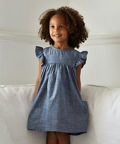 Loving this Chambray Denim London Dress - Toddler & Girls on #zulily! #zulilyfinds