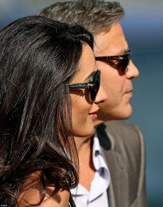 Amal Alamuddin wore Prada sunglasses to protect her eyes in sunny Venice http://dailym.ai/1qOe3m0