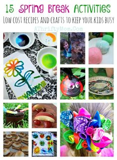 spring break activities and ideas for kids, fun low cost things to do with your children over spring break, Crafts and recipes to make over spring break