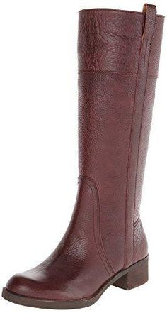 Step out in these rich oxblood boots.