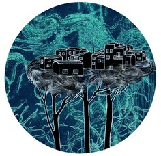 Nothern Lights by Sarah Clement, via Behance