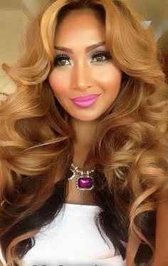Blonde & Brown Curly Hair
