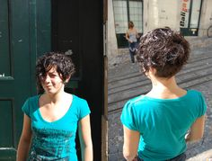 haircut short curly | carla our assistant, haircut by inês | wip-hairport | Flickr