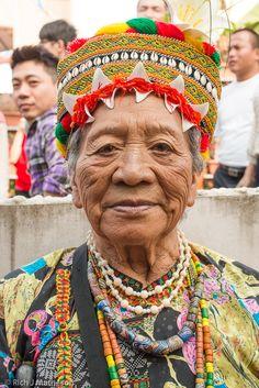 A Rukai(魯凱族) Aboriginal woman in traditional clothing.