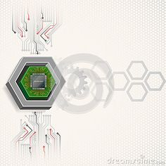 Electronic chip framed by three dimensions hexagon