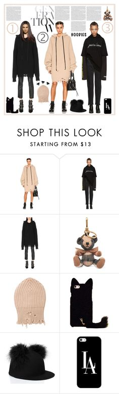 """Heads Up! Cute Hoodies"" by yours-styling-best-friend ❤ liked on Polyvore featuring Unravel, Vetements, Burberry, Kate Spade and Casetify"