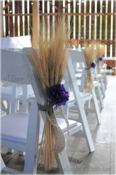 Wheat aisle decorations...