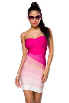 trägerloses BandageKleid in sommerlichen Farben aus der myerotismo collection   - trägerloses Bandage-Kleid in sommerlichen Farben - hochwertig verarbeitet - schöne...