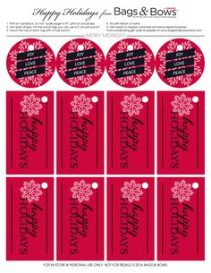 """GIFT TAGS FOR SCRAPBOOK PAGES 9 /""""CHRISTMAS/"""" DOGS HANG 33"""