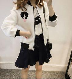 New 2017 Hot Sale Baseball Jacket Women College Jacket Fashion Bomber Jackets Woman Sweatshirt Coat 3 Colors