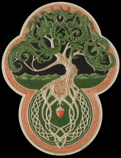 The Celtic Tree of Life Cast Paper Tree Green by Castpaper