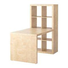 EXPEDIT desk combination, birch effect Width: 154 cm Depth: 79 cm Height: 149 cm